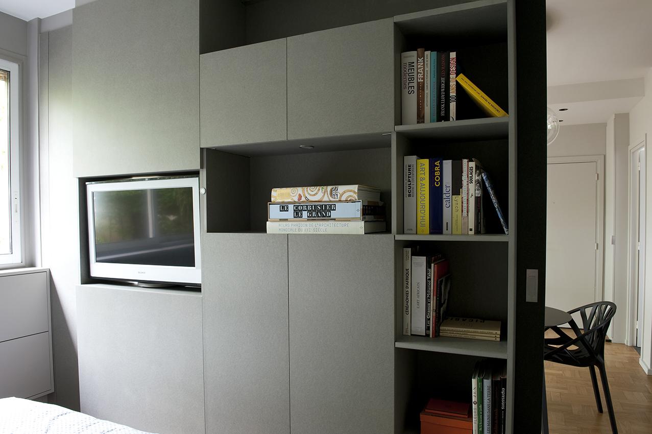 Petit espace arlinea architecture for Separation cuisine salon petit espace