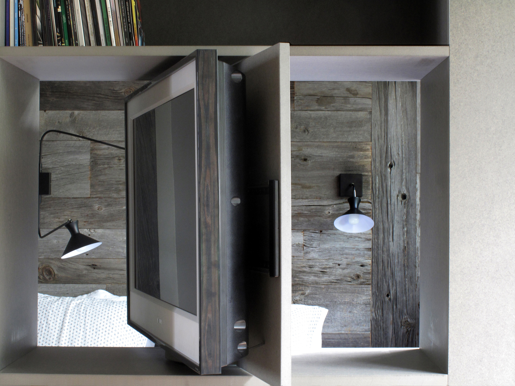 Gain de place arlinea architecture for Chambre a coucher une place